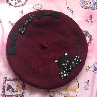 スイマー(SWIMMER)の猫ベレー帽(ハンチング/ベレー帽)