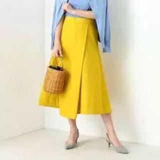 デミルクスビームス(Demi-Luxe BEAMS)の【ネイビー】デミルクスビームス 台形スカート(ひざ丈スカート)