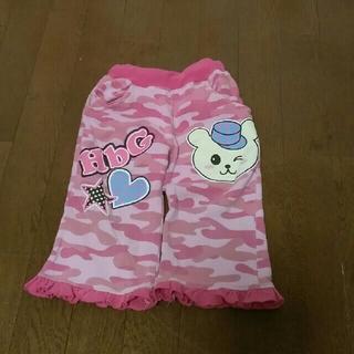 エイチビージー(HbG)のHbGエイチビージー サイズ90 ピンク迷彩柄スウェットパンツ(パンツ/スパッツ)