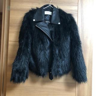 ロイヤルパーティー(ROYAL PARTY)のロイヤルパーティー ファージャケット 黒 ブラック(毛皮/ファーコート)