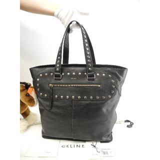 6b38b03ce1d9 セリーヌ(celine)のセリーヌ トートバッグ ショッパー レザー黒 スタッズ付き ハンドバッグ 美品