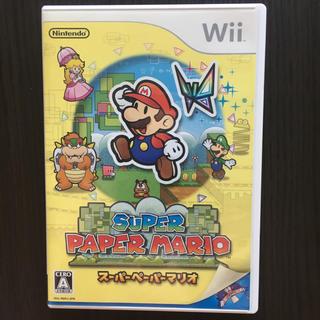 ウィー(Wii)のNintendo Wiiソフト SUPER PAPER MARIO(家庭用ゲームソフト)