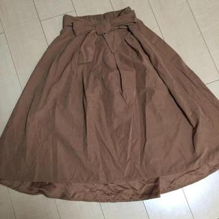 シマムラ(しまむら)のブラウン リボン スカート(ひざ丈スカート)