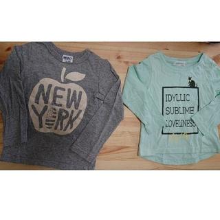 ブリーズ(BREEZE)の保育園着にもってこいのロンT2枚セット(100cm)(Tシャツ/カットソー)