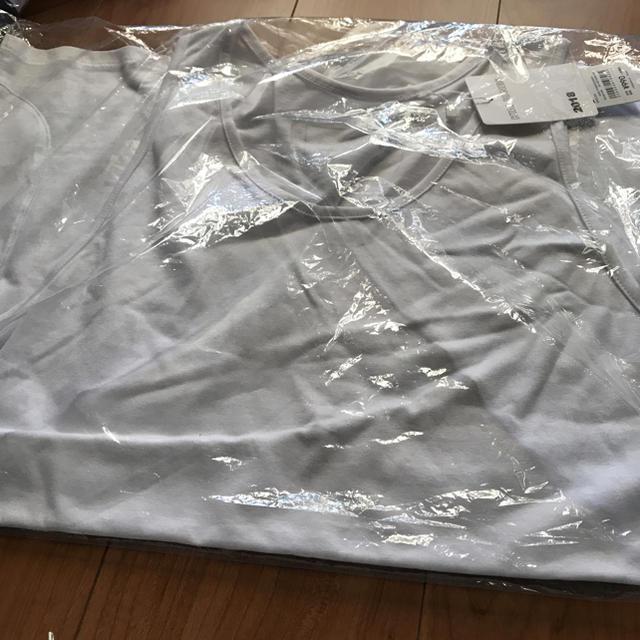 GU(ジーユー)の 新品 白 L GU×KIM JONES サイドポケットタンクトップ(KJ)  メンズのトップス(タンクトップ)の商品写真