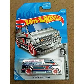クライスラー(Chrysler)の新品未開封 ホットウィール カスタム '77 ダッジバン クロームメッキ(ミニカー)