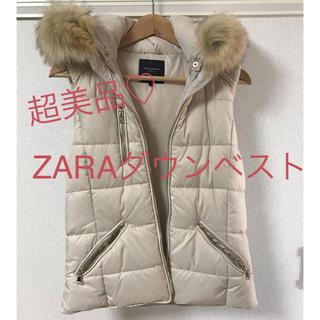 ZARA - ZARA ダウンベスト 白 超美品