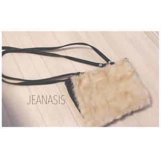 ジーナシス(JEANASIS)のjeanasis ショルダーバッグ 2way ファーバッグ(ショルダーバッグ)