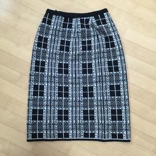 ケイコスズキコレクション(KEIKO SUZUKI COLLECTION)のKEIKO SUZUKI ニットスカート(ひざ丈スカート)