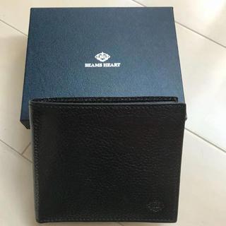 ビームス(BEAMS)の新品未使用 ビームス  イタリアンレザー 財布 エンボス加工(折り財布)