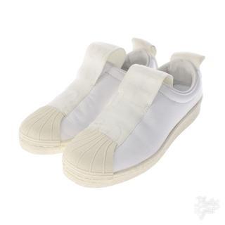アディダス(adidas)の状態C  adidas  スリッポン 白 状態C(スリッポン/モカシン)