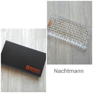 ナハトマン(Nachtmann)の【未使用品】Nachtmann ナハトマン・クリスタルプレート 長皿(食器)