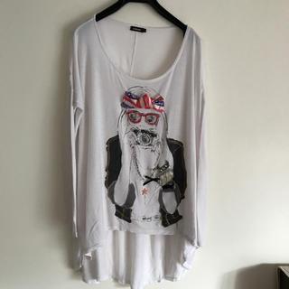 ルシェルブルー(LE CIEL BLEU)のれい様専用 オシャレプリント&装飾 ロンT(Tシャツ(長袖/七分))