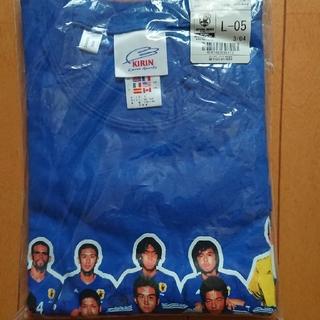アディダス(adidas)のキリンカップ2003 日本代表 vs セネガル代表 Tシャツ Lサイズ 未開封(記念品/関連グッズ)
