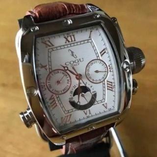 コグ(COGU)の新品✨コグ COGU 自動巻き メンズ 腕時計 C62-WRGBR ホワイト(腕時計(アナログ))