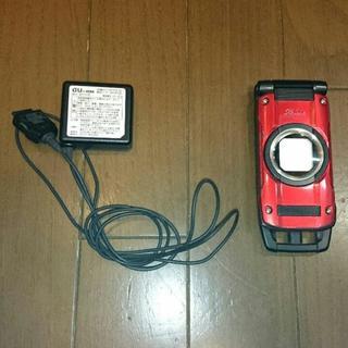 カシオ(CASIO)のGzOne type-x 赤色  au(携帯電話本体)