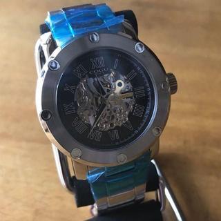 コグ(COGU)の新品✨コグ COGU フルスケルトン 自動巻 メンズ 腕時計 BNSK1-BK(腕時計(アナログ))