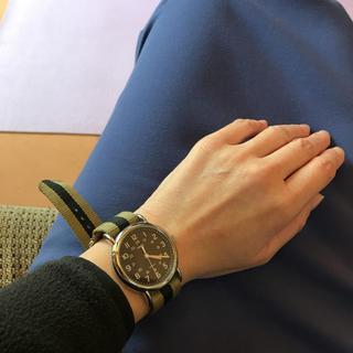 タイメックス(TIMEX)のTIMEX カーキ 腕時計 ヴィンテージ (腕時計(アナログ))