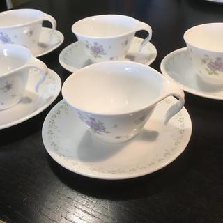 コレール(CORELLE)のCORELLE コレール 食器 皿 花 カップ&ソーサー 5客(グラス/カップ)