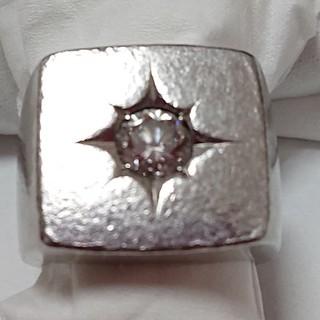 プラチナ850  ダイヤ入り印台(リング(指輪))
