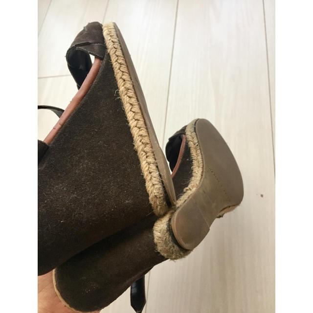 Charles and Keith(チャールズアンドキース)のチャールズアンドキース ウエッジソール 茶 ストラップ サンダル レディースの靴/シューズ(サンダル)の商品写真