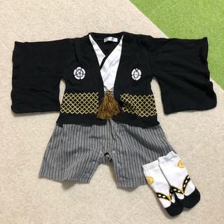 袴 ロンパース 靴下セット 70cm(ロンパース)