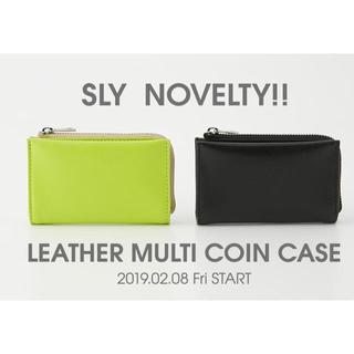 スライ(SLY)のSLYノベルティ♡リアルレザーマルチコインケース♡牛革本革♡小銭入れカードケース(財布)