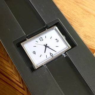 ムジルシリョウヒン(MUJI (無印良品))の【新品】無印良品 腕時計 駅の時計 ブラック(腕時計)