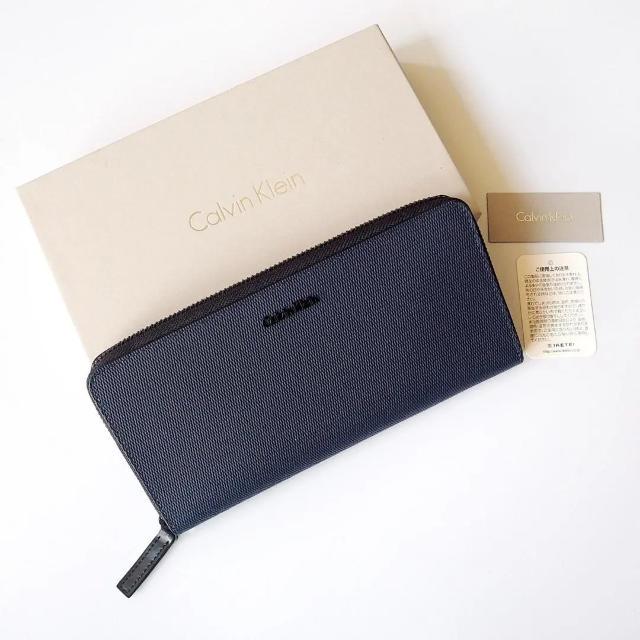 Calvin Klein(カルバンクライン)のカルバンクライン 長財布 ネイビーブルー 牛革 メンズのファッション小物(長財布)の商品写真