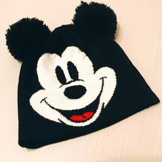 エイチアンドエム(H&M)のミッキーニット帽(ニット帽/ビーニー)