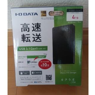 アイオーデータ(IODATA)のポータブルハードディスク HDPH-UT4DKR(ノートPC)