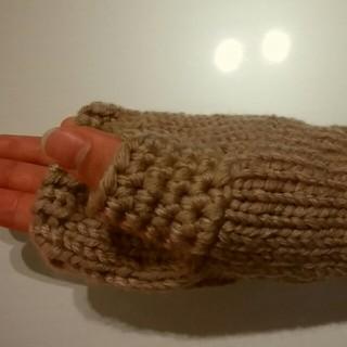 手編みハンドウォーマー(手袋)
