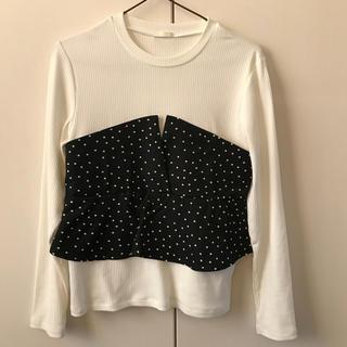 ジーユー(GU)のGU ビスチェ風 トップス(Tシャツ(長袖/七分))