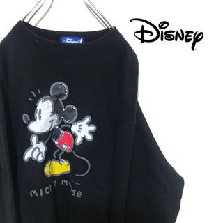 ディズニー(Disney)のDisney ディズニー トレーナー スウェット ミッキーマウス ブラック(スウェット)