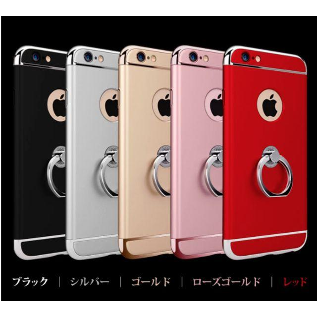 iphone xs max tpu ケース - メッキ加工 簡単装着 三重構造 リング付 衝撃防止 スタンド バンカー アイフォの通販 by 菜穂美@プロフ要重要|ラクマ