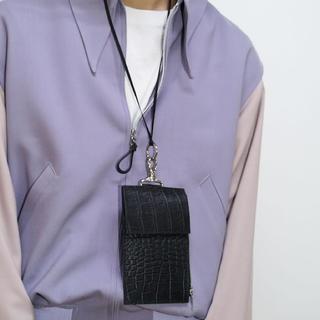 マルタンマルジェラ(Maison Martin Margiela)のKAIKO LEATHER NECK BAG M CROCODILE CROCO(ショルダーバッグ)