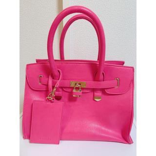 30608cea501a リエンダ(rienda)のrienda SSカラーフラップミディバッグ ピンク(ハンドバッグ)