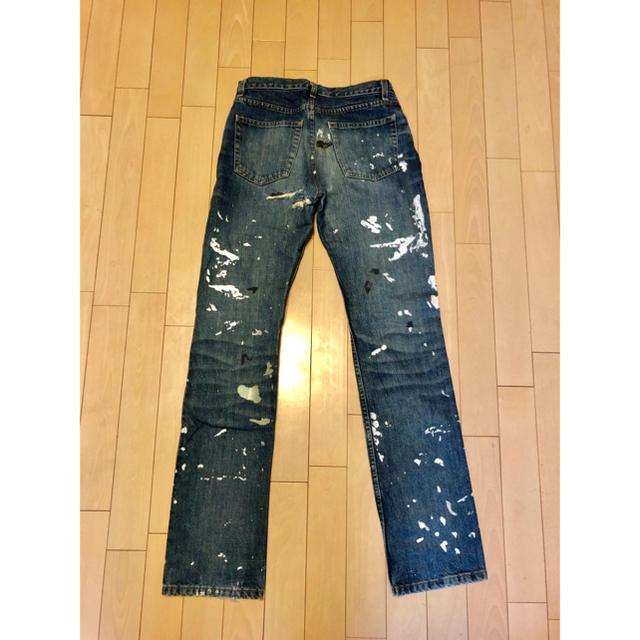 HELMUT LANG(ヘルムートラング)のヘルムートラング ペイント デニム初代品 リメイク済 27インチ メンズのパンツ(デニム/ジーンズ)の商品写真