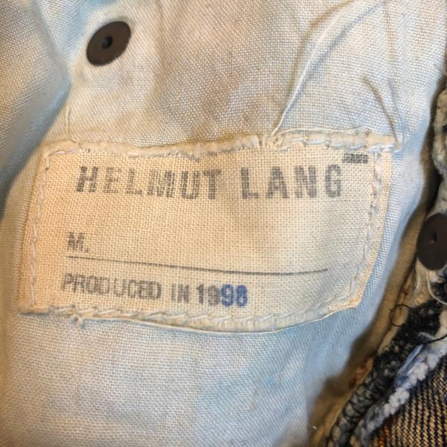 HELMUT LANG(ヘルムートラング)のヘルムートラング ペイントデニム リメイク補強 サイズ補修 32インチ メンズのパンツ(デニム/ジーンズ)の商品写真