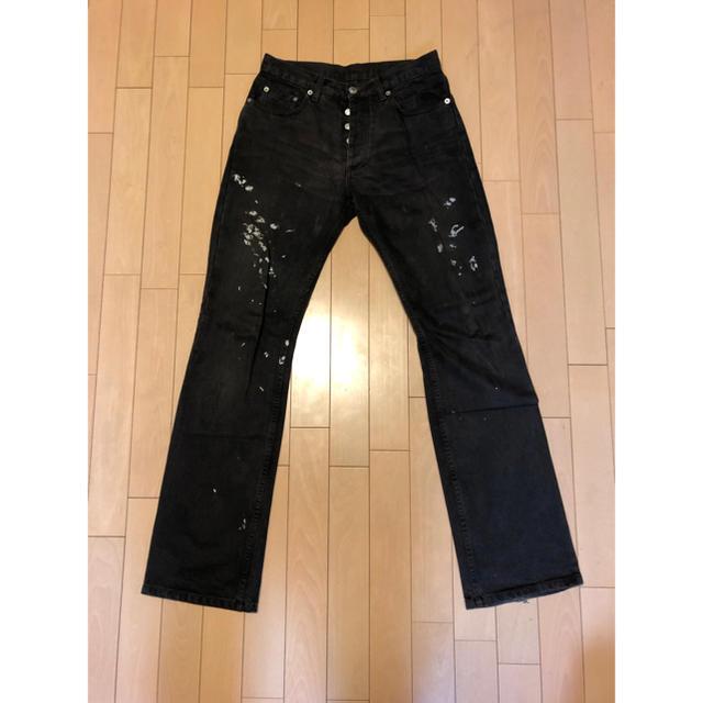 HELMUT LANG(ヘルムートラング)のヘルムートラング ペイントデニム ブラック 美品 28インチ メンズのパンツ(デニム/ジーンズ)の商品写真
