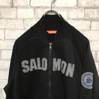 【希少】SALOMON サロモン ロゴワッペン付きジャージブルゾン