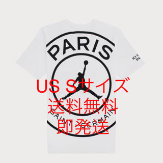 ナイキ(NIKE)のUS Sサイズ NIKE JORDAN×PSG ビッグロゴ Tシャツ ホワイト(Tシャツ/カットソー(半袖/袖なし))