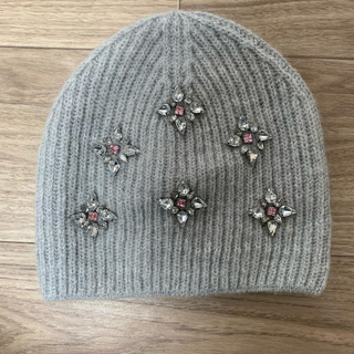 エイチアンドエム(H&M)のH&M ビジュー ニット帽(ニット帽/ビーニー)