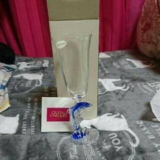 クリスタルダルク(Cristal D'Arques)のイルカ シャンパングラス  クリスタルダルク(グラス/カップ)