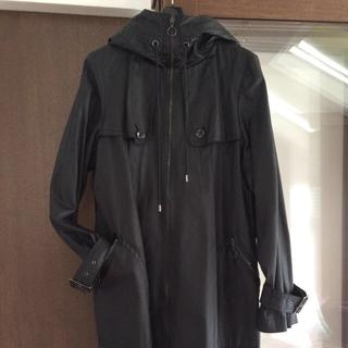 アドーア(ADORE)のADOREのブラック春コート(スプリングコート)