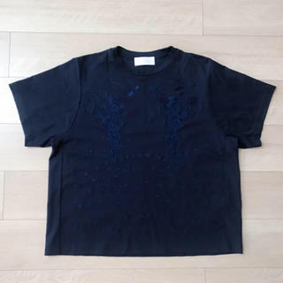 マメ(mame)のmame ボタニカル刺繍Tシャツ(Tシャツ(半袖/袖なし))