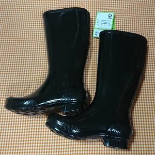 クロックス(crocs)のクロックス crocs tall rain boot ブラック W6 22cm(レインブーツ/長靴)