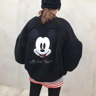 ディズニー(Disney)のミッキーボアジャケット(ブルゾン)