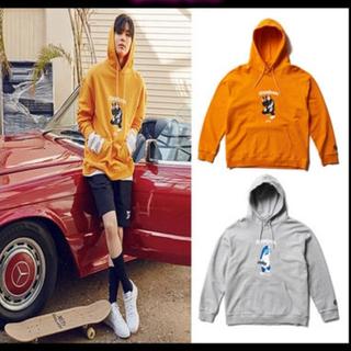 リーボック(Reebok)のReebokパーカー オレンジ  韓国ファッション(パーカー)