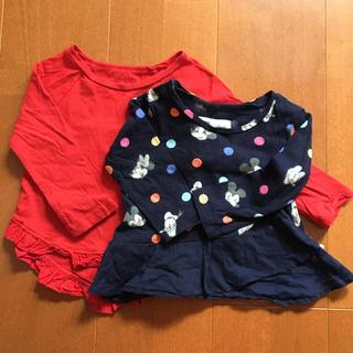 ギャップ(GAP)の子供服 女の子 80サイズ GAP 長袖 2点セット(シャツ/カットソー)